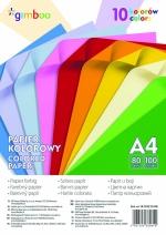 Barevné papír A4 80gr. 10 barev  neon + inten.
