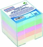 Blok poznámkový - kostka NElepená DONAU pastelová + zásobník