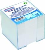 Blok poznámkový - kostka NElepená DONAU bílá + zásobník