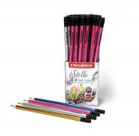 Heykka tužka Stello HB mix barev, 72ks