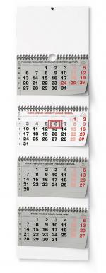 Kalendář 2022 nástěnný čtyřměsíční skládaný BNC6
