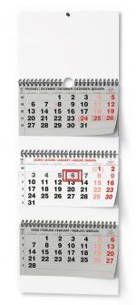Kalendář 2022 nástěnný tříměsíční skládaný BNC5 černý