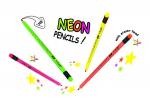 Tužky Y-PLUS s gumou Star neon HB, 6ks
