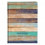 Diář denní záznamy A4, BU019-1 dřevo