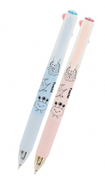 Pero kuličkové 4-barevné GR-F5518 - růžové