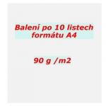 Papír pauzovací A4 95 g balení 10 listů