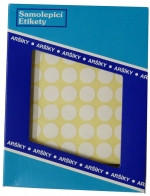 Etikety na archu A5 průměr 16 mm balení 250 archů