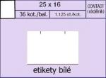 Etikety Contact 25 x 16 mm hranaté bílé