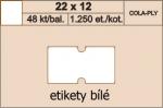 Etikety Cola-Ply 22 x 12 mm bílé