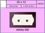 Etikety Contact 26 x 12 mm bílá UNI