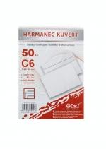 Obálka C6 bílá samolepicí 50 ks