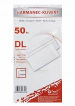 Obálka DL bílá samolepicí 50 ks