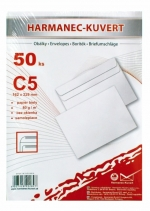 Obálka C5 bílá samolepicí 50 ks