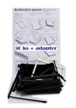 Archivační spony PVC, balení 50 ks  + adapter