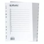 Registr A4 (1-12 čísel) plastový