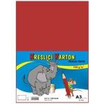 Karton barevný kreslicí A3 (420 x 297 mm), 50 listů /180g červený E