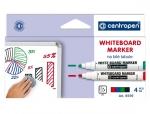 Popisovač CENTROPEN 8559/4 white board marker, stíratelný, sada