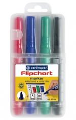 Popisovač CENTROPEN 8550/4 FLIPCHART MARKER 4 sada