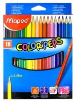 Pastelky MAPED trojhranné 18 ks Color Peps