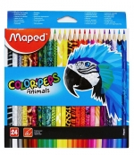 Pastelky MAPED trojhranné 24 ks Color Peps