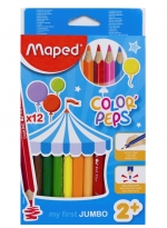 Pastelky MAPED JUMBO trojhranné, Color Peps/12ks