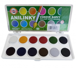 Vodové barvy Anilinky Kohinoor, 12 barev