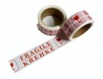 Lepicí páska bílá 48 mm x 66 m potisk KŘEHKÉ