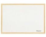 Bílá magnetická tabule 90 x 60 cm, dřevěný rám + houba smile