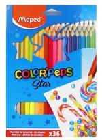 Pastelky MAPED trojhranné 36 ks Color Peps