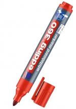 Popisovač Edding 360 na bílé tabule, červený 1,5-3 mm