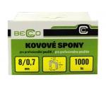 Drátky do sponkovačky Becco ES 8 mm/11,3 balení 1000 ks