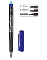 Popisovač 1525 M modrý na CD/DVD Faber Castell, Multimark