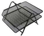 Drátěný stolní odkladač kancelářský 2-šuplík černý
