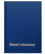 Diář denní záznamy A5 - modrá