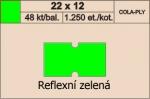 Etikety Cola-ply 22 x 12 mm signální - zelená