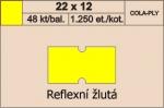 Etikety Cola-ply 22 x 12 mm signální - žlutá