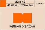 Etikety Cola-ply 22 x 12 mm signální - oranžová