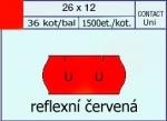 Etikety Contact 26 x 12 mm signální - červená UNI