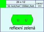Etikety Contact 26 x 12 mm signální - zelená UNI