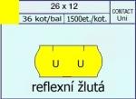 Etikety Contact 26 x 12 mm signální - žlutá UNI