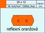 Etikety Contact 26 x 12 mm signální - oranžová UNI