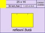 Etikety Contact 25 x 16 mm signální hranaté - žlutá