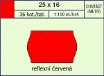 Etikety Contact 25 x 16 mm signální oblá - červená