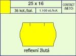 Etikety Contact 25 x 16 mm signální oblá - žlutá