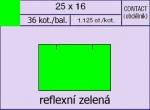 Etikety Contact 25 x 16 mm signální hranaté - zelená