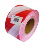 Páska bariérová - červeno/bílá  šířka 82 mm, návin 250 metrů
