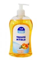 Mýdlo tekuté s pumpičkou 500 ml Tip line - broskev, vanilka