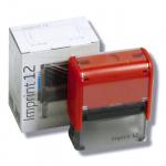Trodat - Imprint 12, kompletní razítko, červený strojek New
