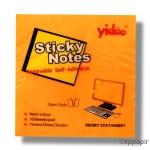 Poznámkové lístky lepicí YIDOO 75 x 75 mm neon - oranžová