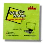 Poznámkové lístky lepicí YIDOO 75 x 75 mm neon - zelená